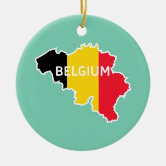 Ornamento De Cerâmica Mapa e bandeira de Bélgica