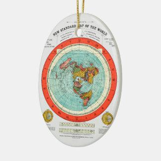 Ornamento De Cerâmica Mapa padrão novo da terra lisa Earther do mundo