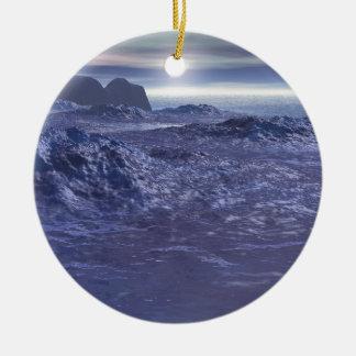 Ornamento De Cerâmica Mar congelado de Netuno