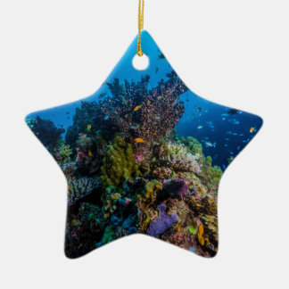 Ornamento De Cerâmica Mar coral recife de coral tropical dos peixes do