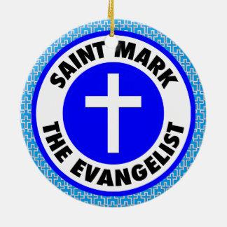 Ornamento De Cerâmica Marca de santo o evangelista