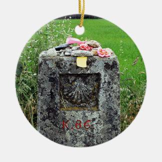 Ornamento De Cerâmica Marcador 86 quilômetros, EL Camino, espanha