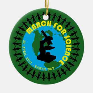 Ornamento De Cerâmica Março para a ciência - Dia da Terra - 22 de abril