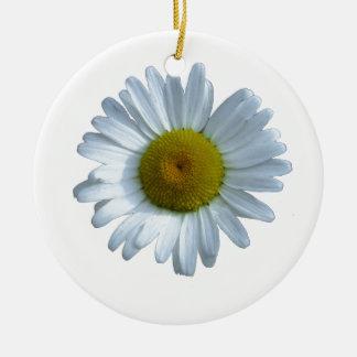 Ornamento De Cerâmica Margarida branca
