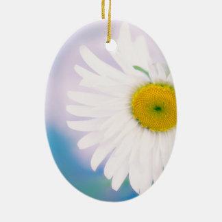 Ornamento De Cerâmica Margarida curvada