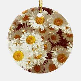 Ornamento De Cerâmica Margaridas do vintage