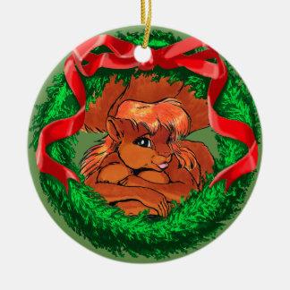 Ornamento De Cerâmica Mariah o Squirreltaur