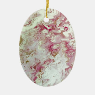 Ornamento De Cerâmica Mármore cor-de-rosa