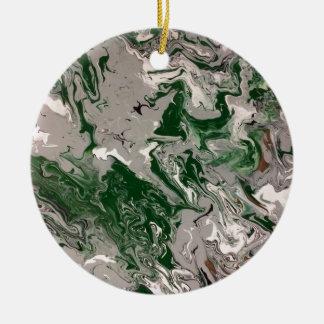 Ornamento De Cerâmica Mármore verde e cinzento