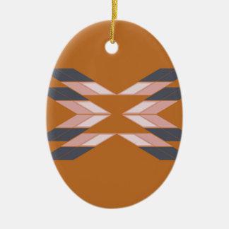 Ornamento De Cerâmica MARROM da mandala ECO do design