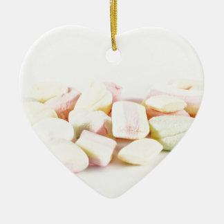 Ornamento De Cerâmica Marshmallows dos doces