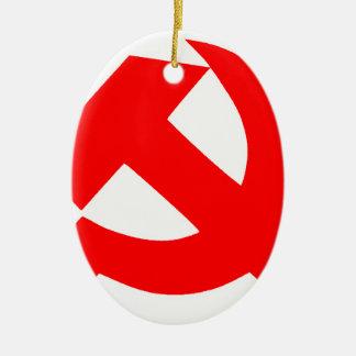 Ornamento De Cerâmica Martelo e foice primitivos União Soviética CCCP