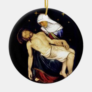 Ornamento De Cerâmica Mary que guardara Jesus