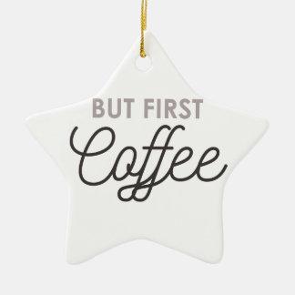 Ornamento De Cerâmica Mas primeiro café
