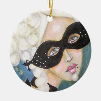 Ornamento De Cerâmica Máscara artística lunática de Marie Antionette do