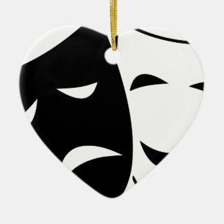 Ornamento De Cerâmica Máscara da comédia e da tragédia