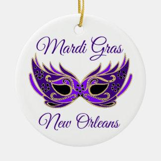Ornamento De Cerâmica Máscara de Nova Orleães do carnaval