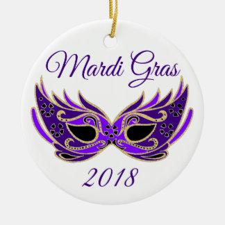 Ornamento De Cerâmica Máscara do carnaval 2018