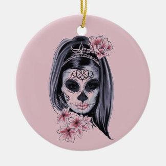 Ornamento De Cerâmica Máscara do esqueleto da mulher