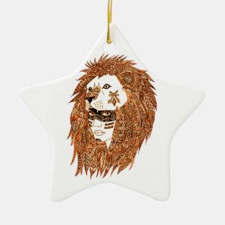 Ornamento De Cerâmica Máscara do leão