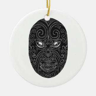 Ornamento De Cerâmica Máscara maori Scratchboard