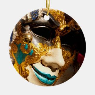 Ornamento De Cerâmica Máscara Venetian