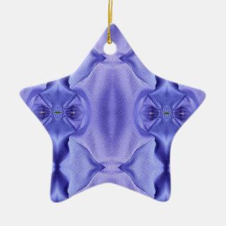 Ornamento De Cerâmica Máscaras chiques bonito do teste padrão da lavanda