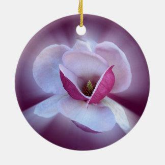 Ornamento De Cerâmica máscaras cor-de-rosa da magnólia
