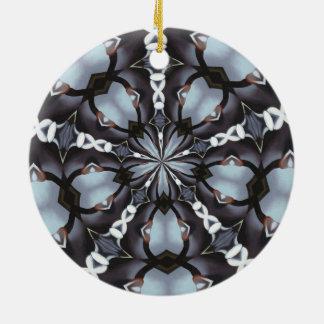 Ornamento De Cerâmica Máscaras do caleidoscópio azul