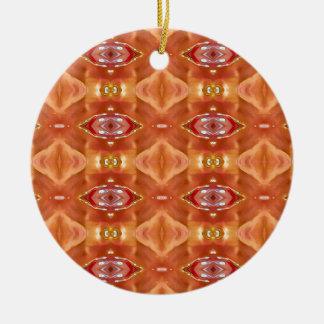 Ornamento De Cerâmica Máscaras do design festivo moderno do pêssego