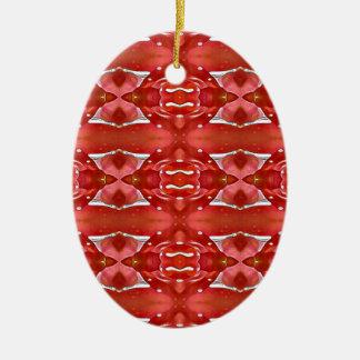 Ornamento De Cerâmica Máscaras do design festivo moderno vermelho