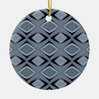 Ornamento De Cerâmica Máscaras do teste padrão geométrico moderno