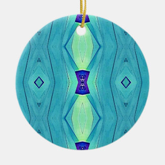 Ornamento De Cerâmica Máscaras modernas vibrantes da hortelã do azul da