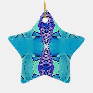 Ornamento De Cerâmica Máscaras modernas vibrantes do roxo azul