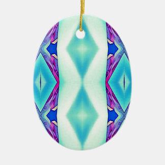 Ornamento De Cerâmica Máscaras tribais modernas da lavanda da cerceta