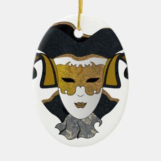 Ornamento De Cerâmica Maschera-Veneziana