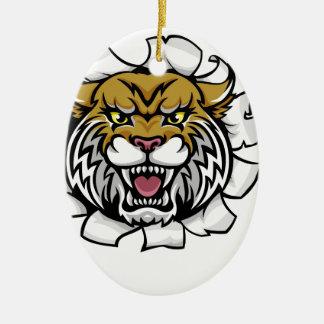 Ornamento De Cerâmica Mascote desorganizada da bola do basquetebol