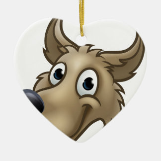 Ornamento De Cerâmica Mascote do caráter do lobo dos desenhos animados