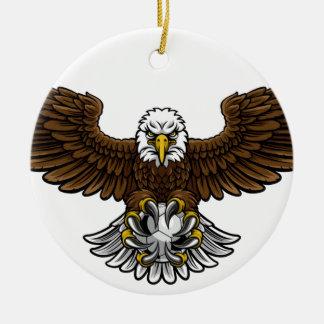 Ornamento De Cerâmica Mascote do futebol do futebol de Eagle