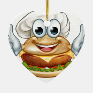 Ornamento De Cerâmica Mascote do personagem de desenho animado da comida