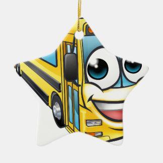 Ornamento De Cerâmica Mascote do personagem de desenho animado do auto