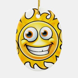 Ornamento De Cerâmica Mascote dos desenhos animados de Sun