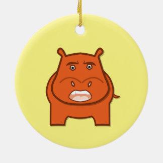 Ornamento De Cerâmica Mascote Expressively brincalhão do bondswell de
