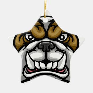 Ornamento De Cerâmica Mascote média dos esportes do buldogue
