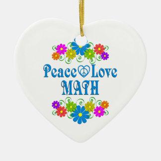 Ornamento De Cerâmica Matemática do amor da paz