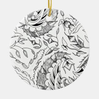 Ornamento De Cerâmica Matéria têxtil indonésia dos vegetais e animal