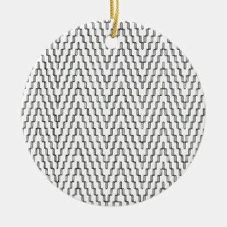 Ornamento De Cerâmica Matéria têxtil indonésia ondulada abstrata