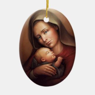 Ornamento De Cerâmica Maternidade divina