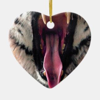 Ornamento De Cerâmica Maxilas do rolamento do tigre dos alugueres