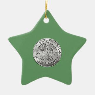 Ornamento De Cerâmica Medalha transversal de Benedict da rua